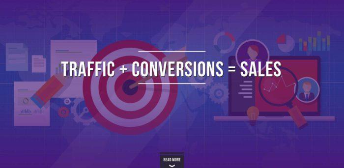 Traffic Plus Conversion = Sales