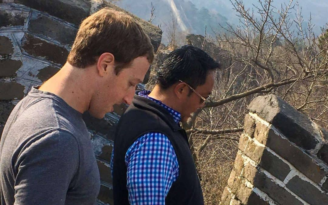 Meeting Mark Zuckerburg on the Great Wall of China
