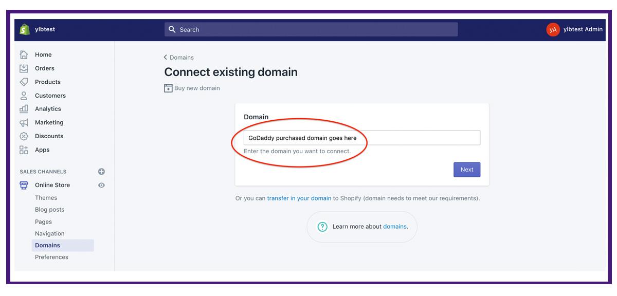shopify settings - domains3