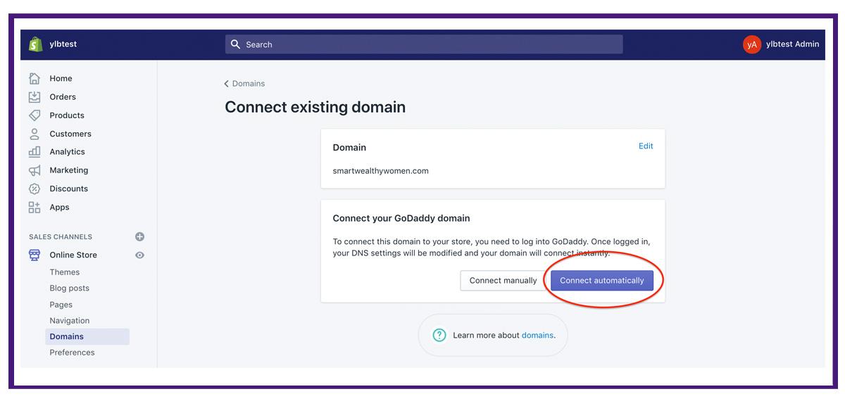 shopify settings - domains4