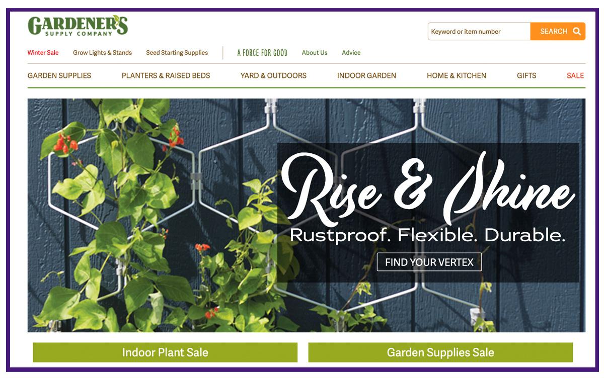 ecommerce business example - gardening