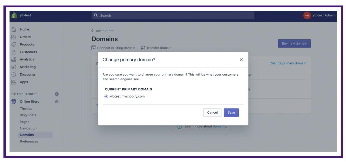 shopify settings - domains6