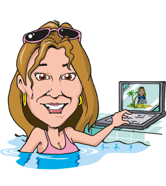 jo barnes swimming pool cartoon