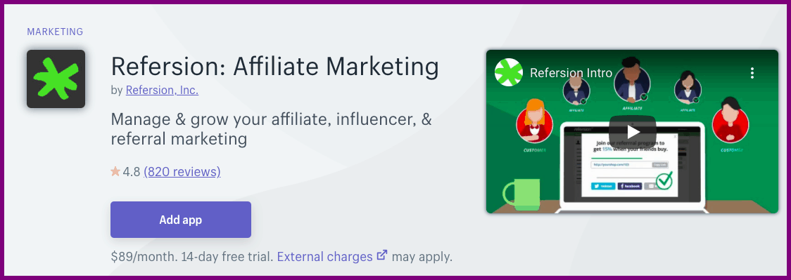 affiliate marketing app for shopify