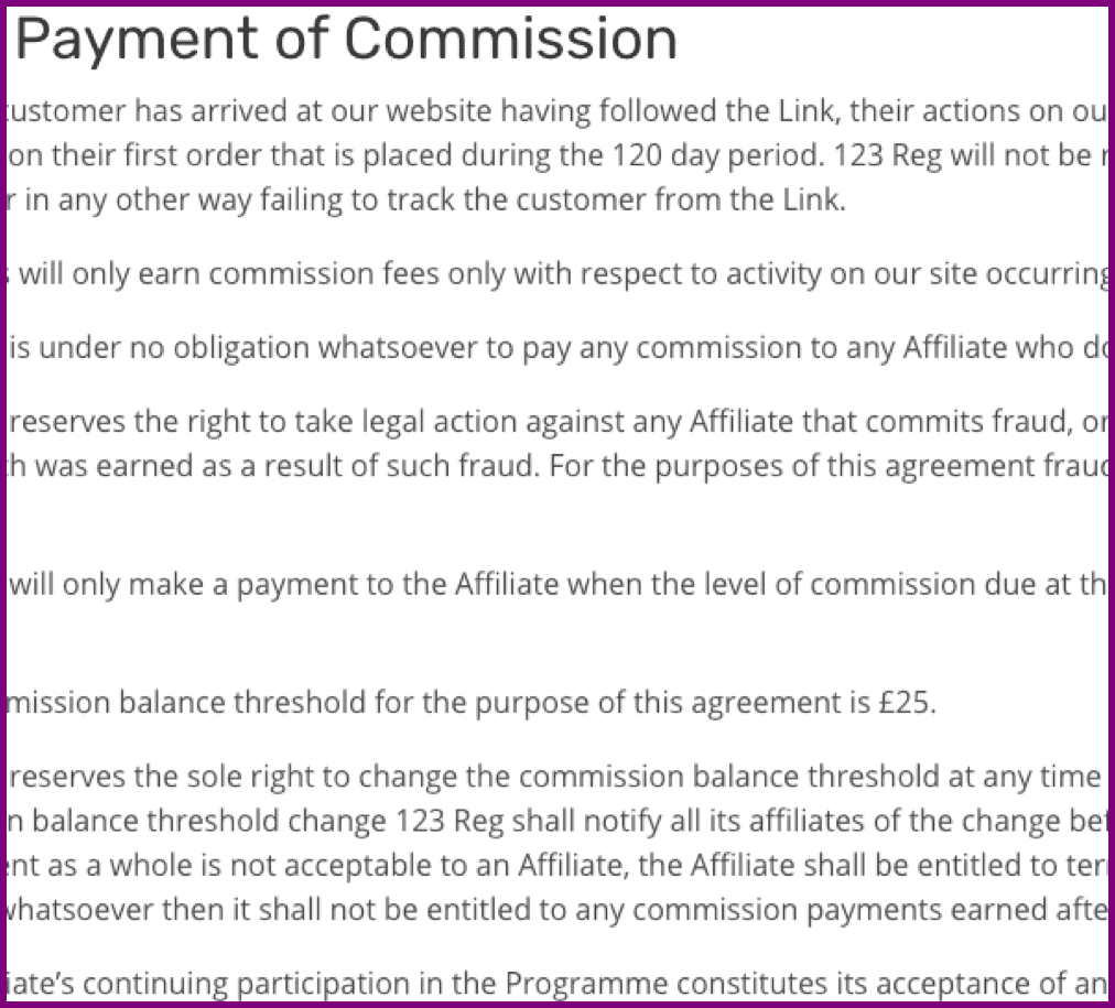 commission payment notice
