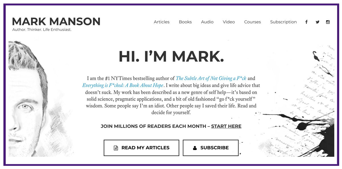 mark manson blog