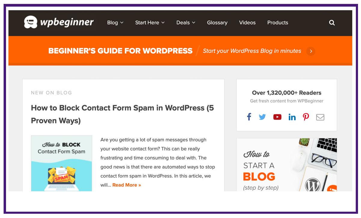 online blog example