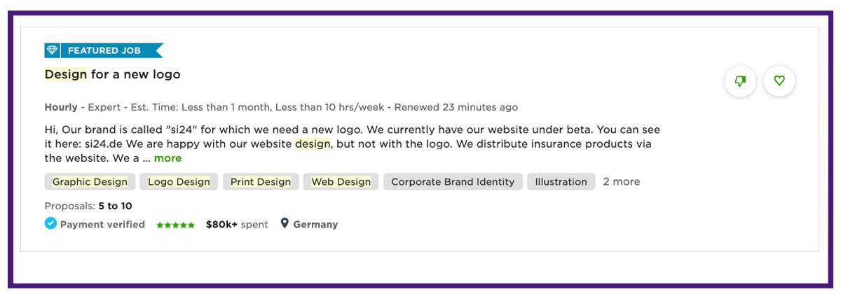 graphic designer freelancing job