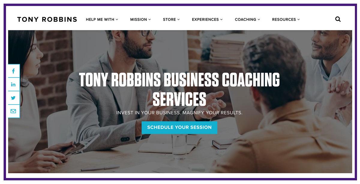 tony robbins business coaching