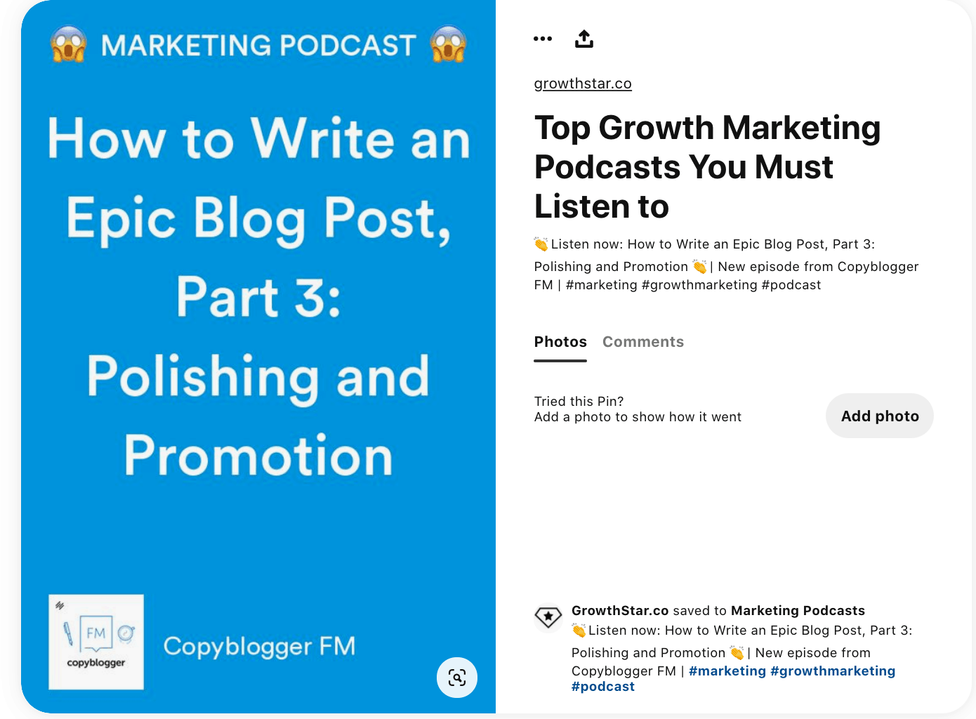 content marketing example - pin