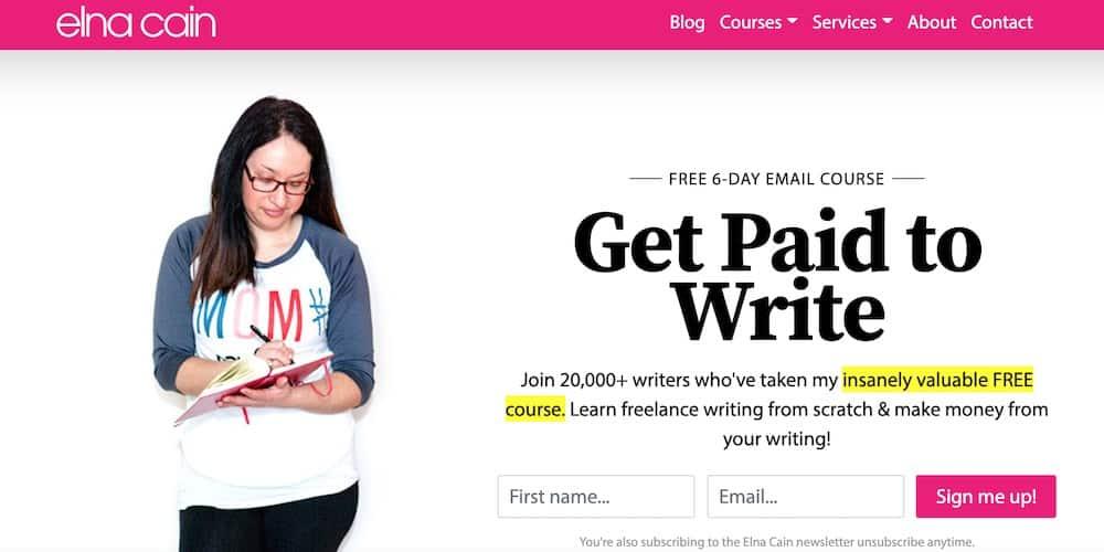 Elna Cain: get paid to write