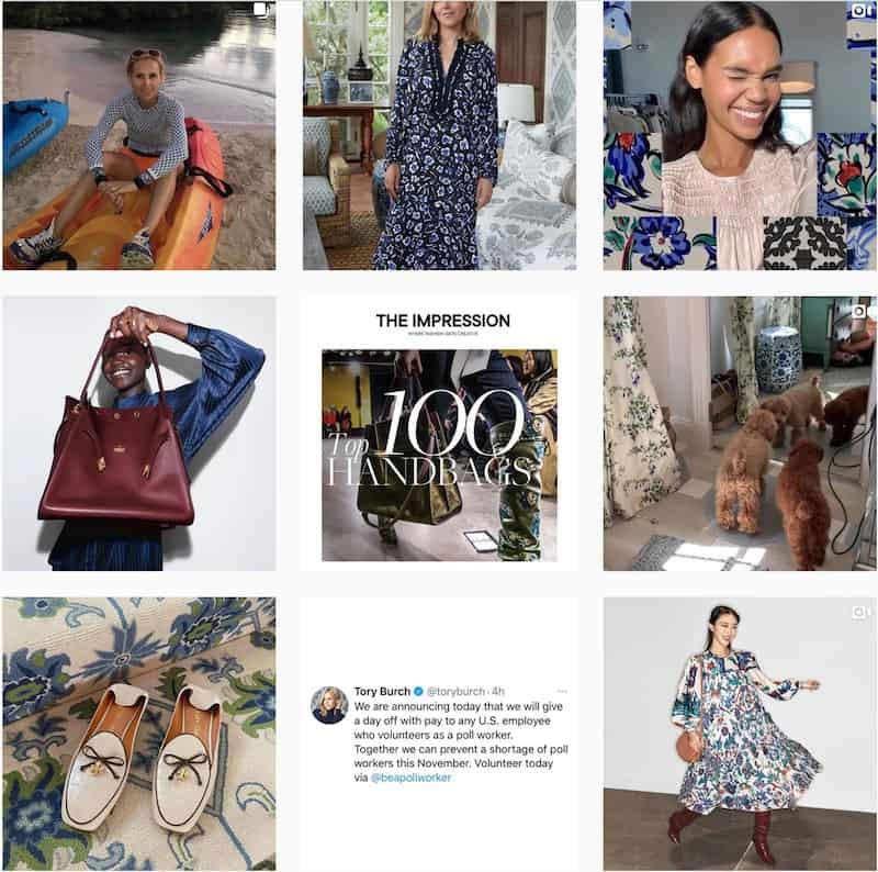 tory burch instagram influencer