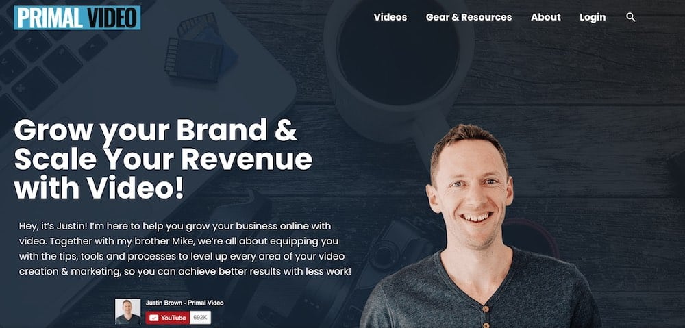 Primal Video: Grow your Brand & scale your Revenue with Video consulting example