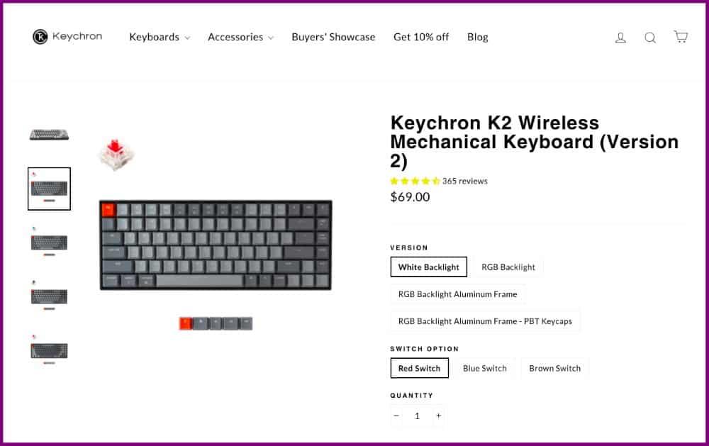 Keychron - ecommerce store