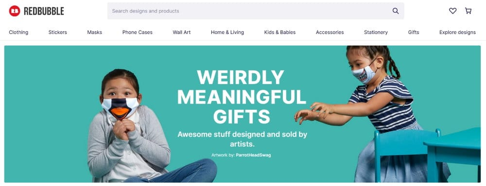 Redbubble - print-on-demand designs