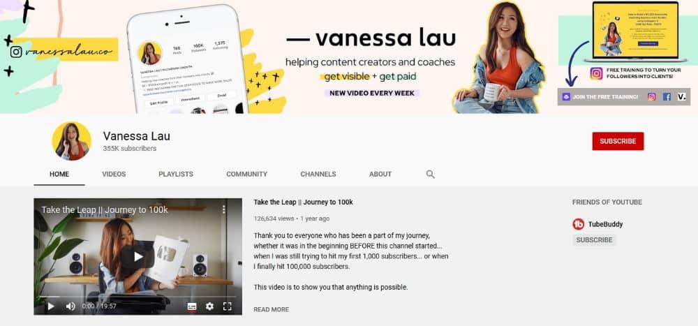 Vanessa Lau - YouTube Channel