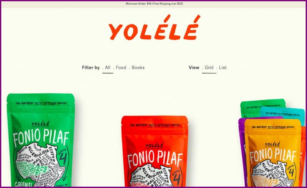 Yolele - ecommerce store