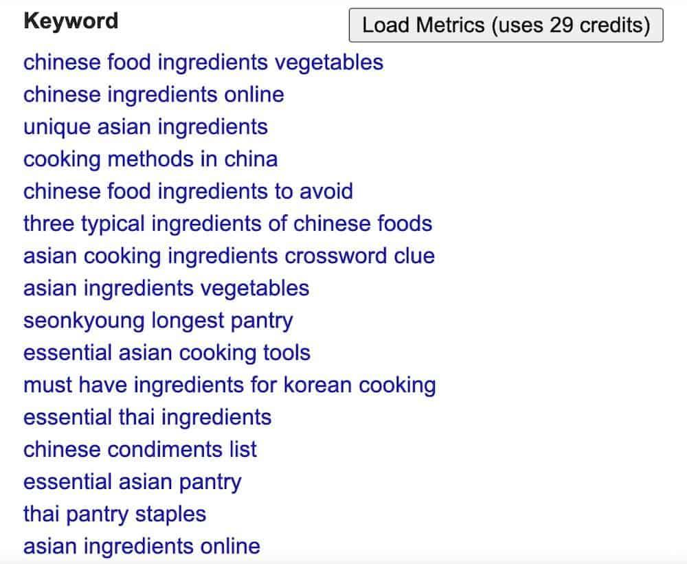 keywords everywhere - free keyword tool
