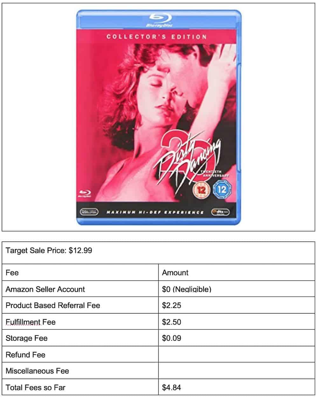 dirty dancing dvd 4 storage fee