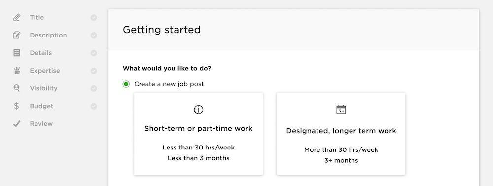 hiring on upwork